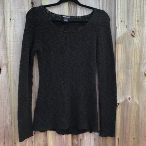 Wet Seal Black Knitted Sweater Shirt Sz Small